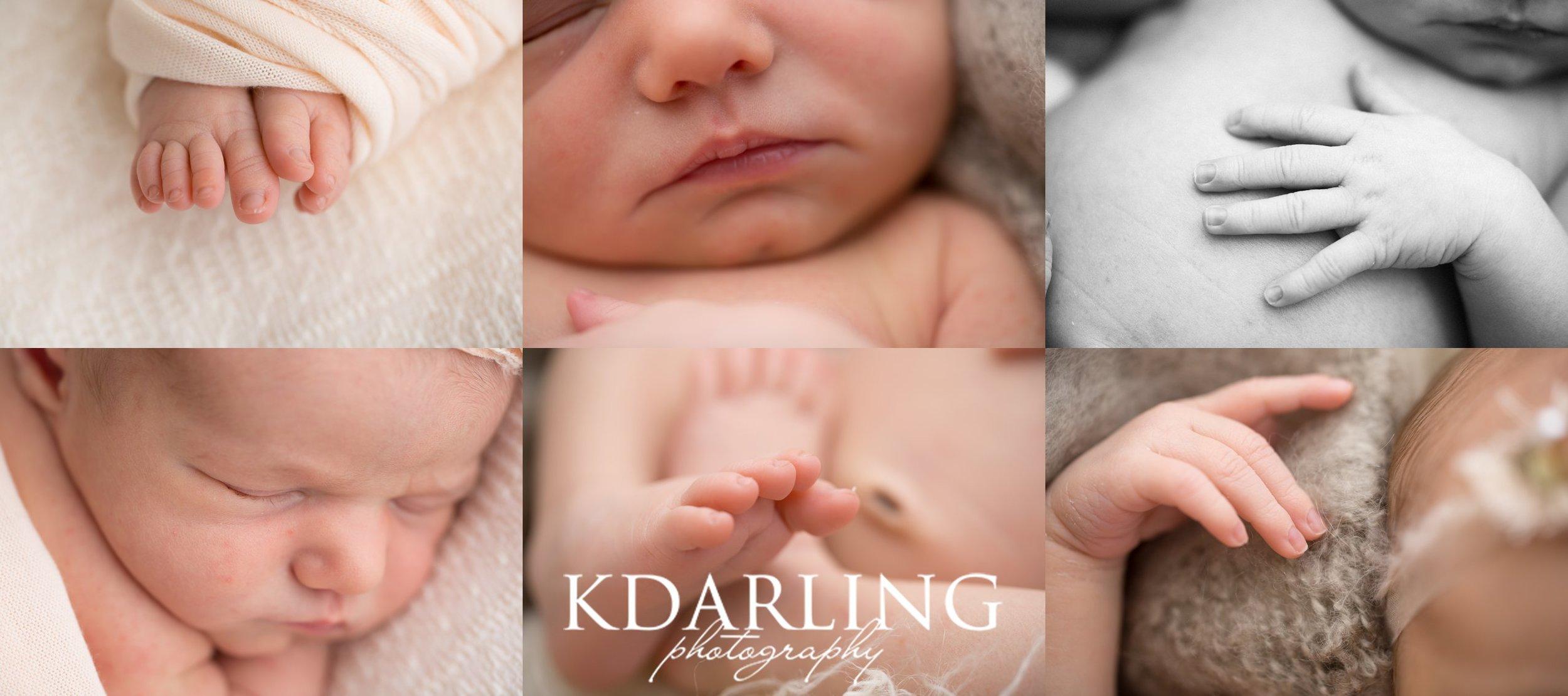 Neutral newborn baby girl