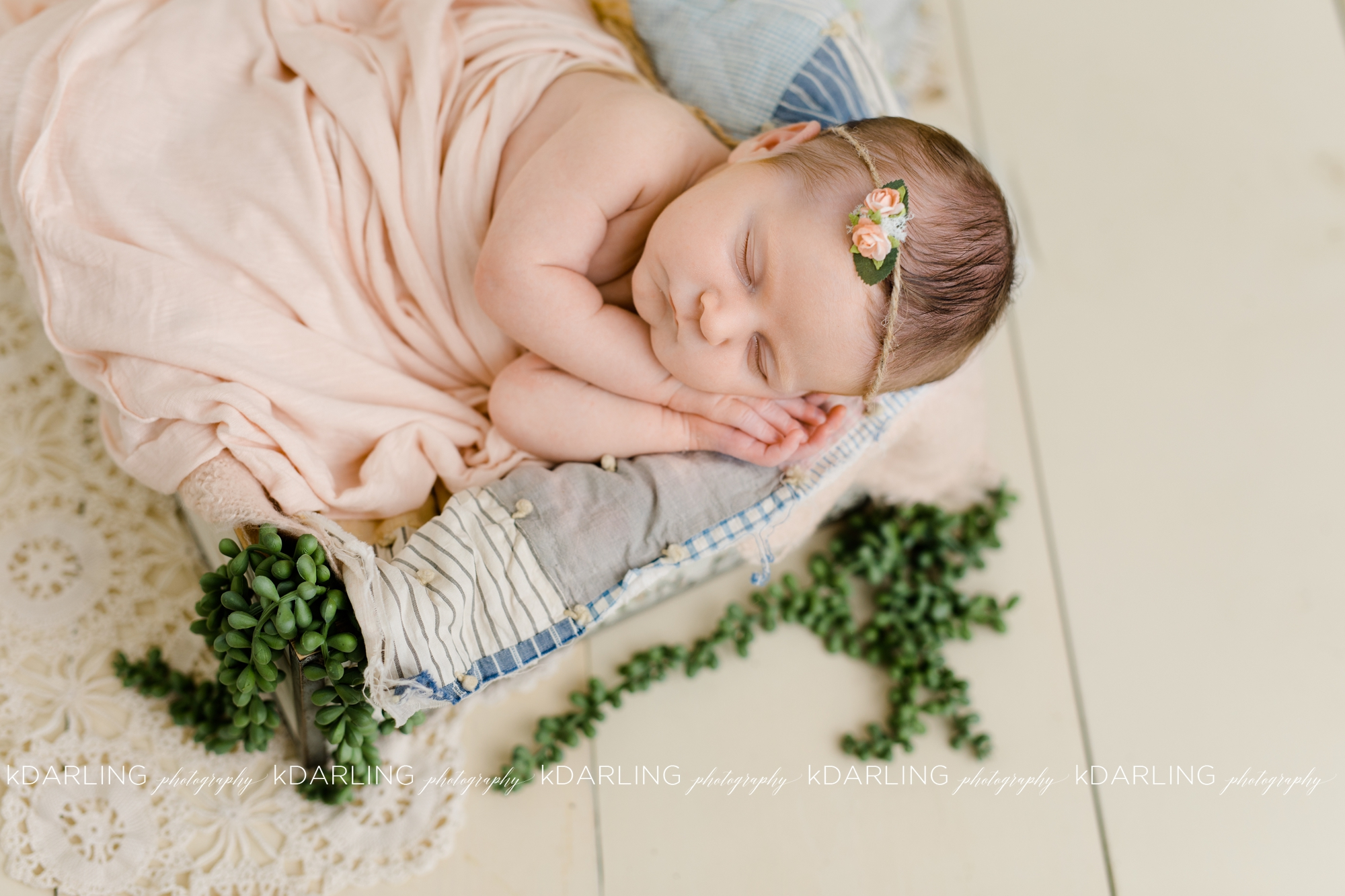 Newborn-Photography-Champaign-County-IL-Girl-pink-white-darling