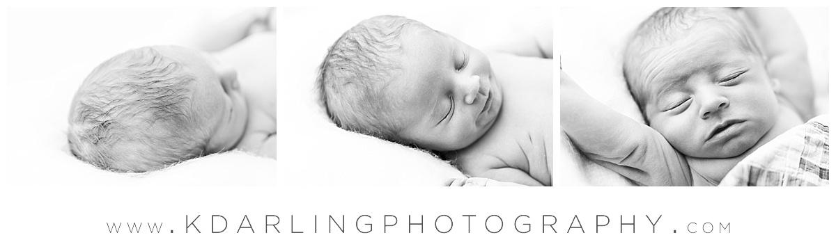 black and white photos of sleeping newborn