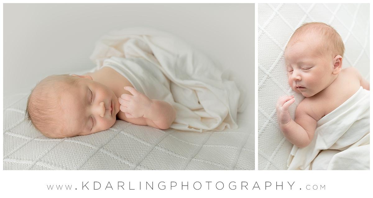 Newborn baby boy sleeping sweetly