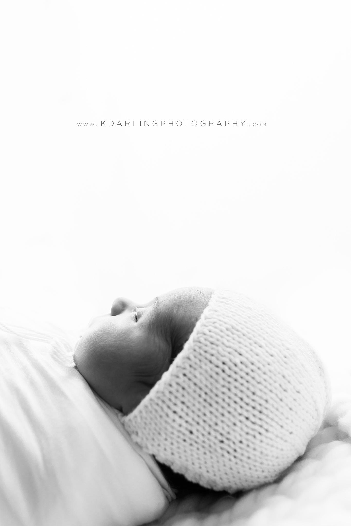Backlit image of a newborn baby boy