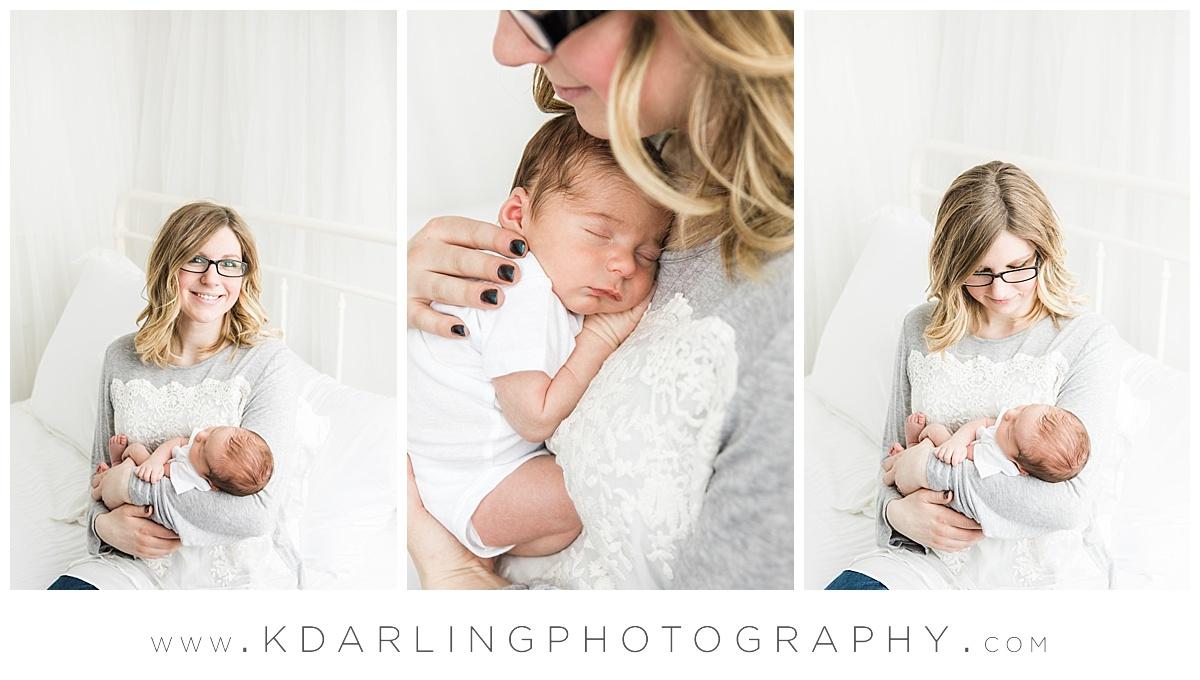 New mom with newborn baby boy