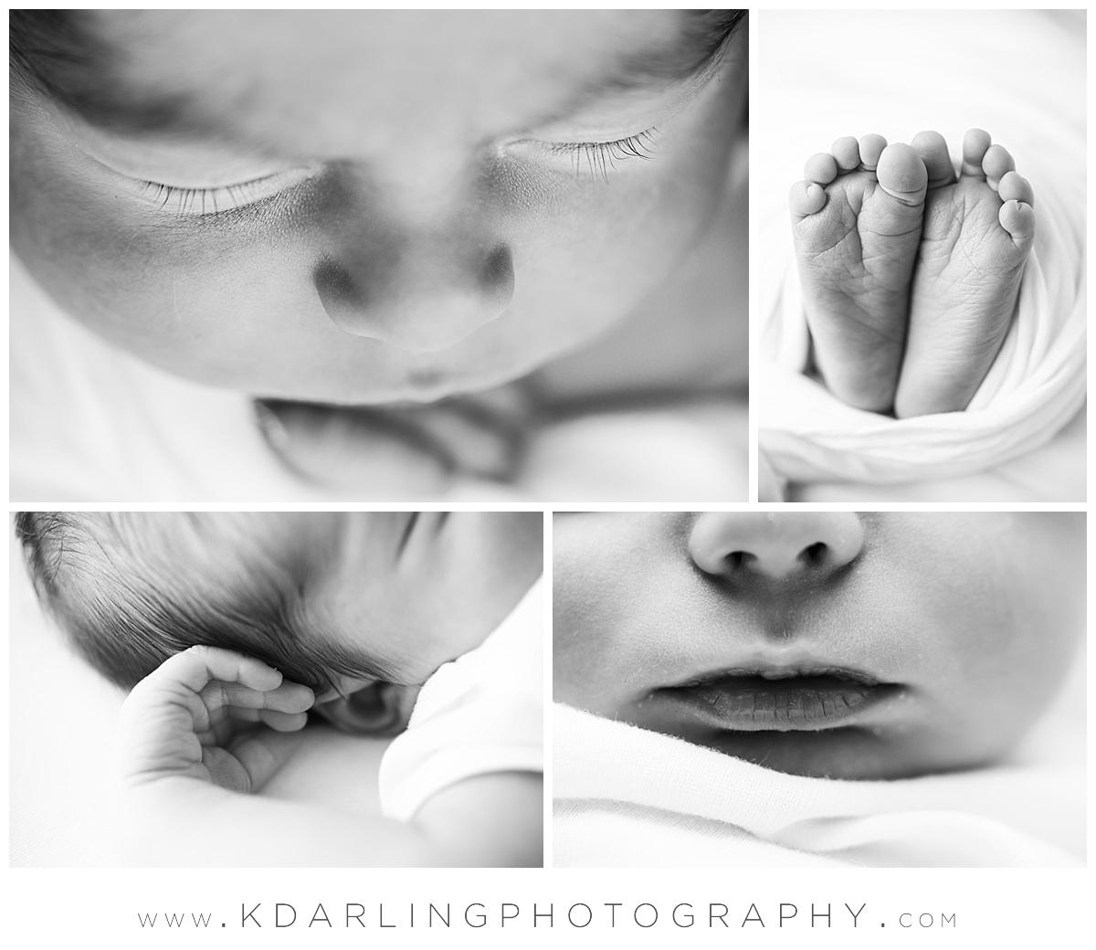 Macro images of newborn baby boy's eyelashed