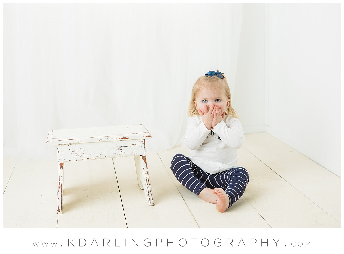 Two year old girl giggling