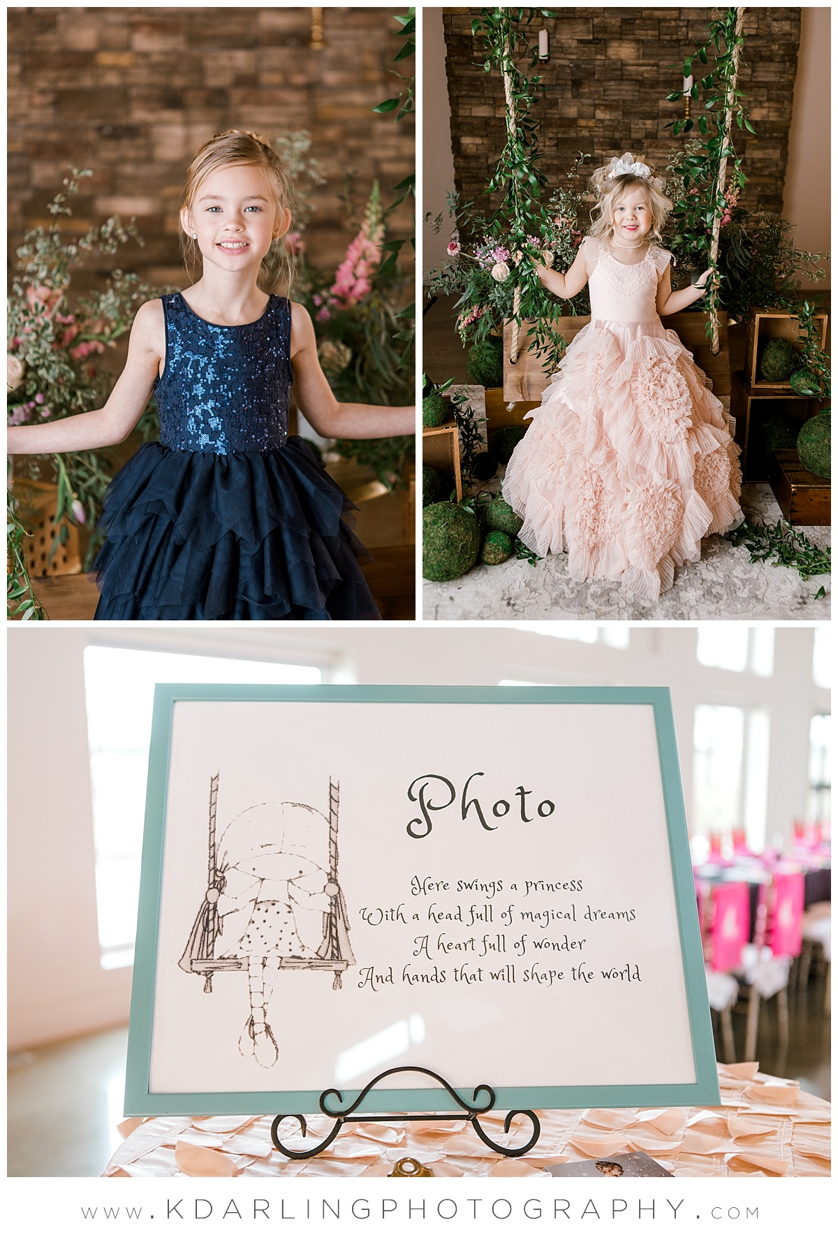 Princess portraits at pear tree estate in Champaign, IL