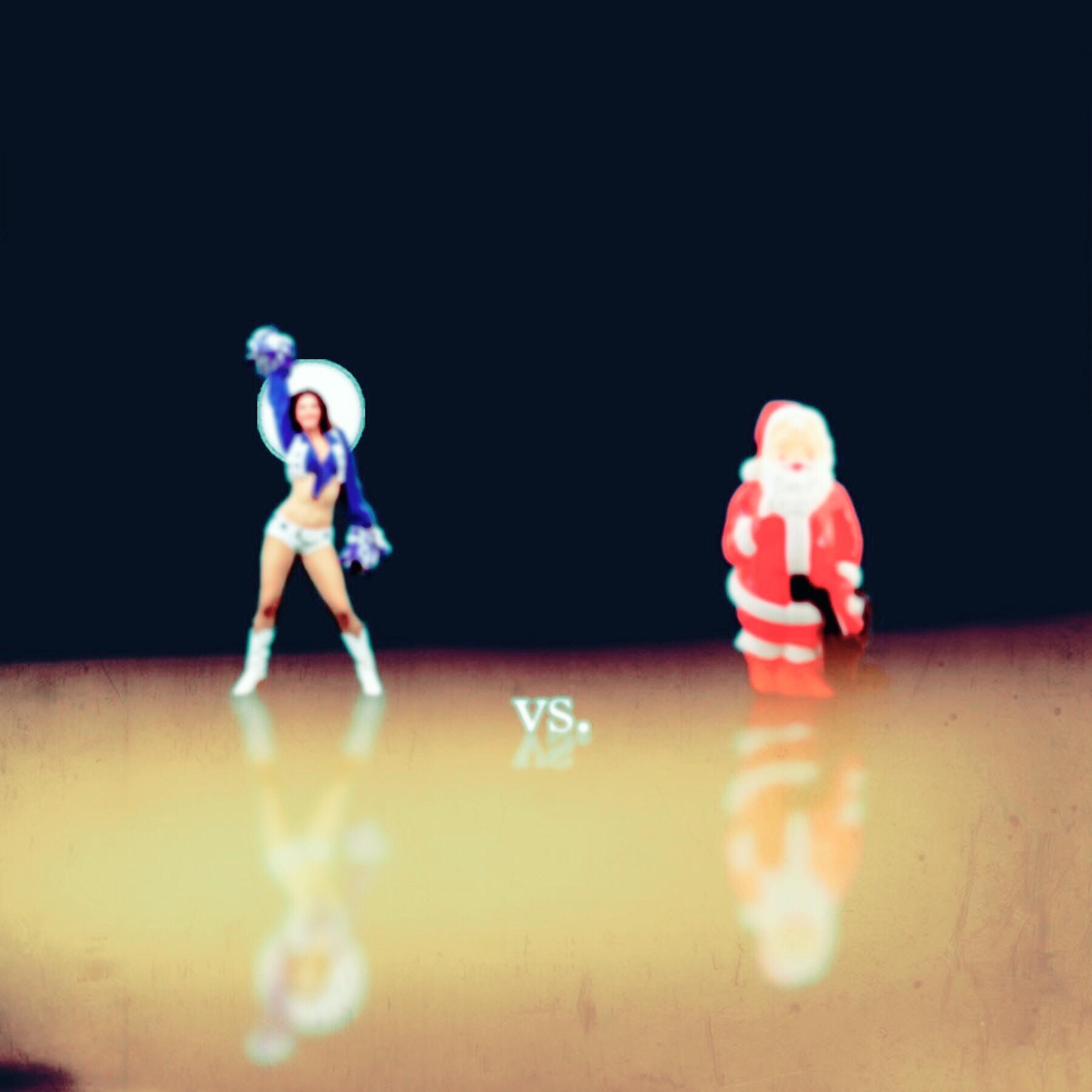 Cheerleader vs. Plastic Santa