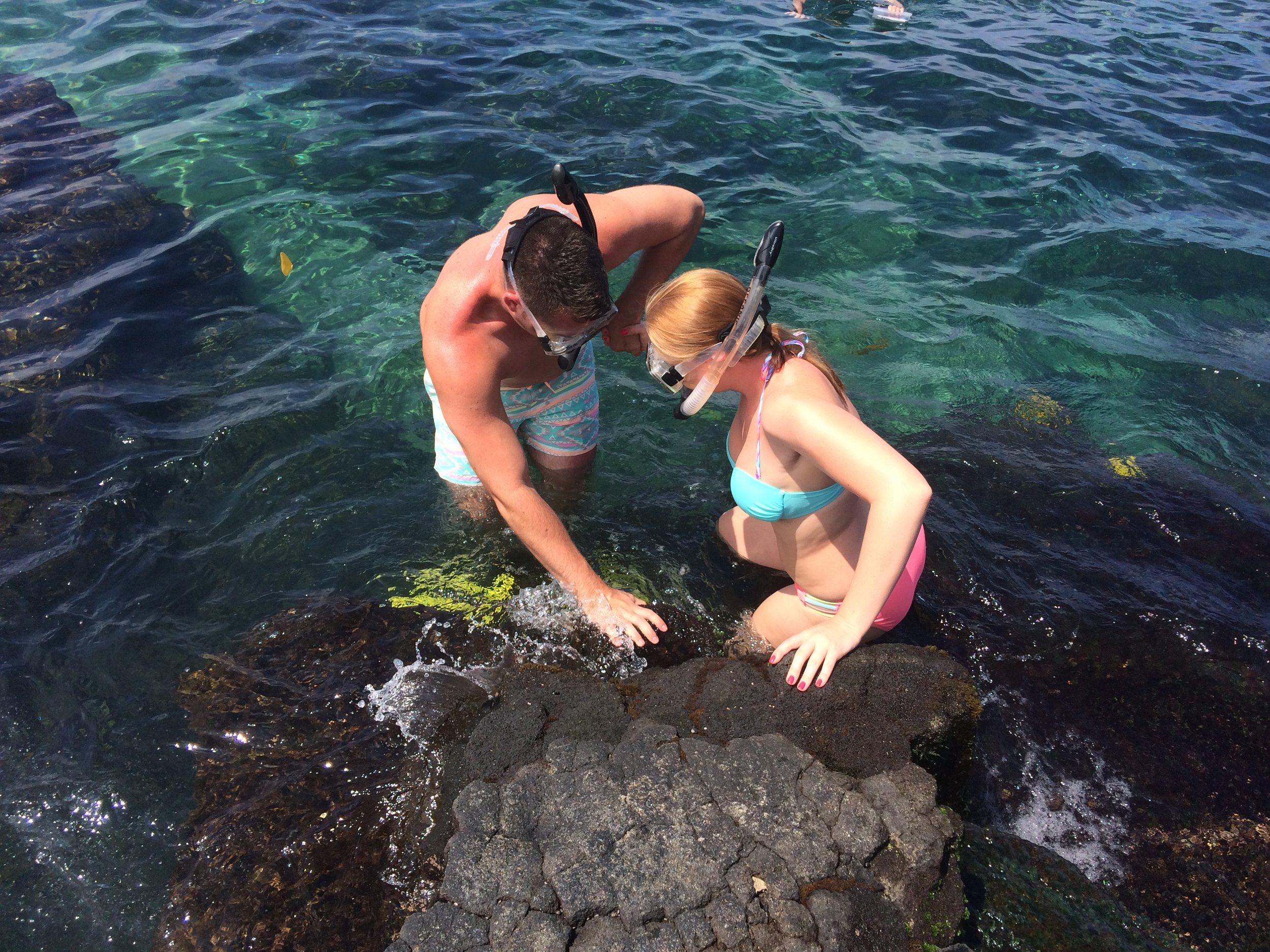 Snorkeling at Two Step in Hawaii
