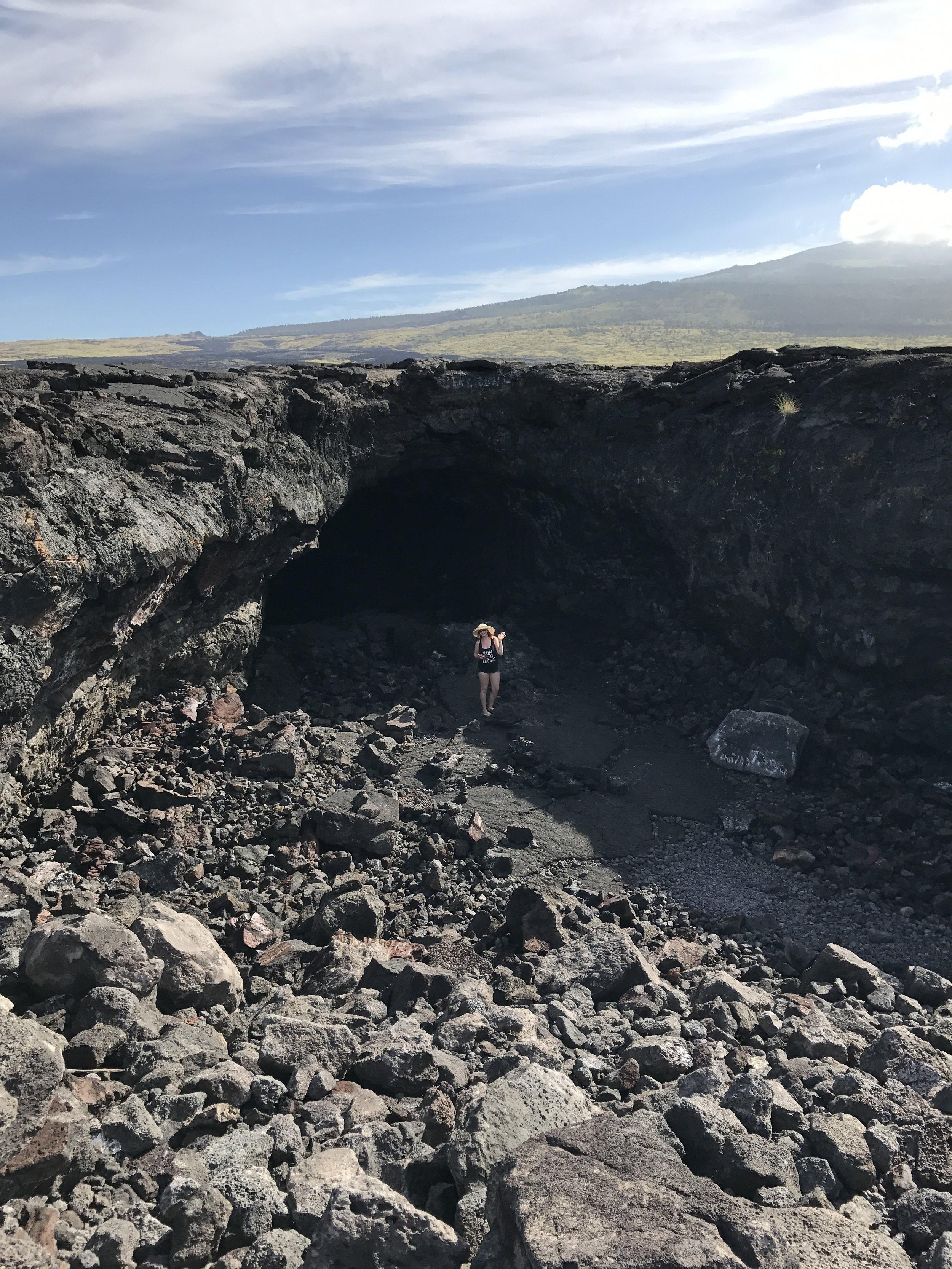 A lava tube in Hawaii