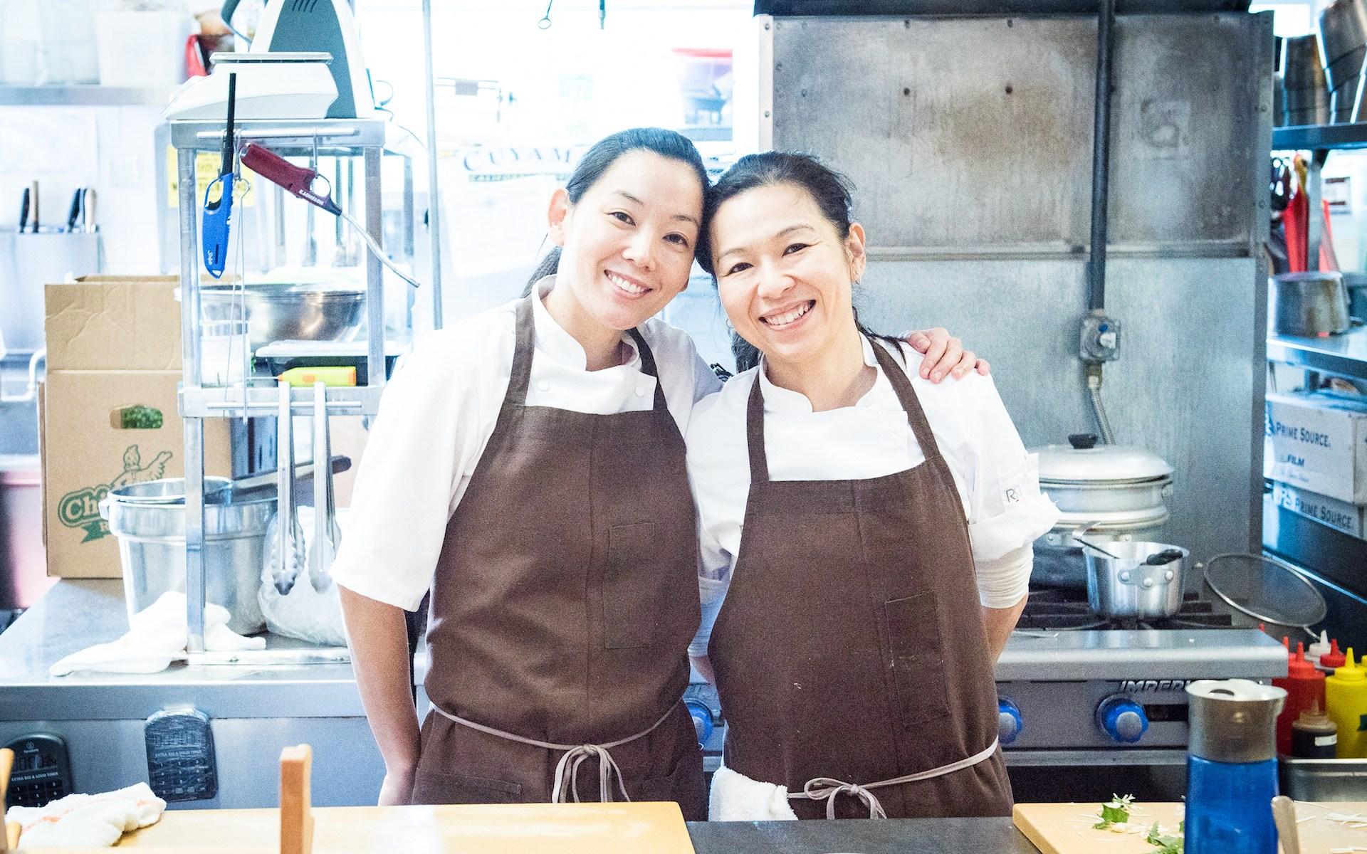 Sous Chef Carole Iida-Nakayama (left) and Chef Niki Nakayama (right).