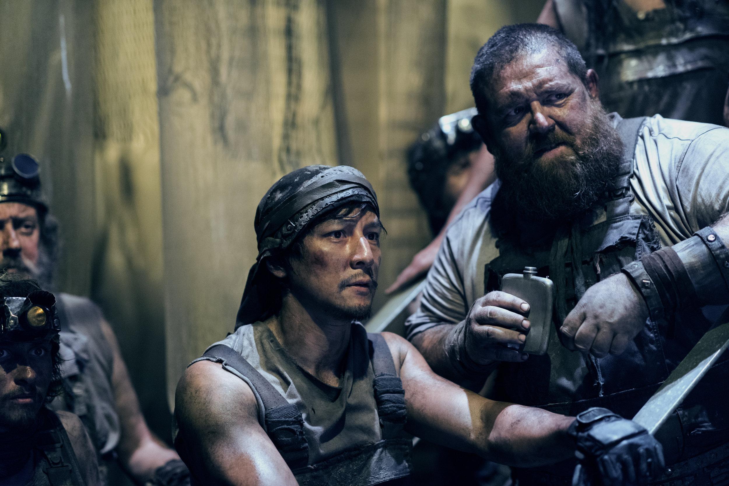 Daniel Wu with co star Nick Frost as Bajie. Source: AMC