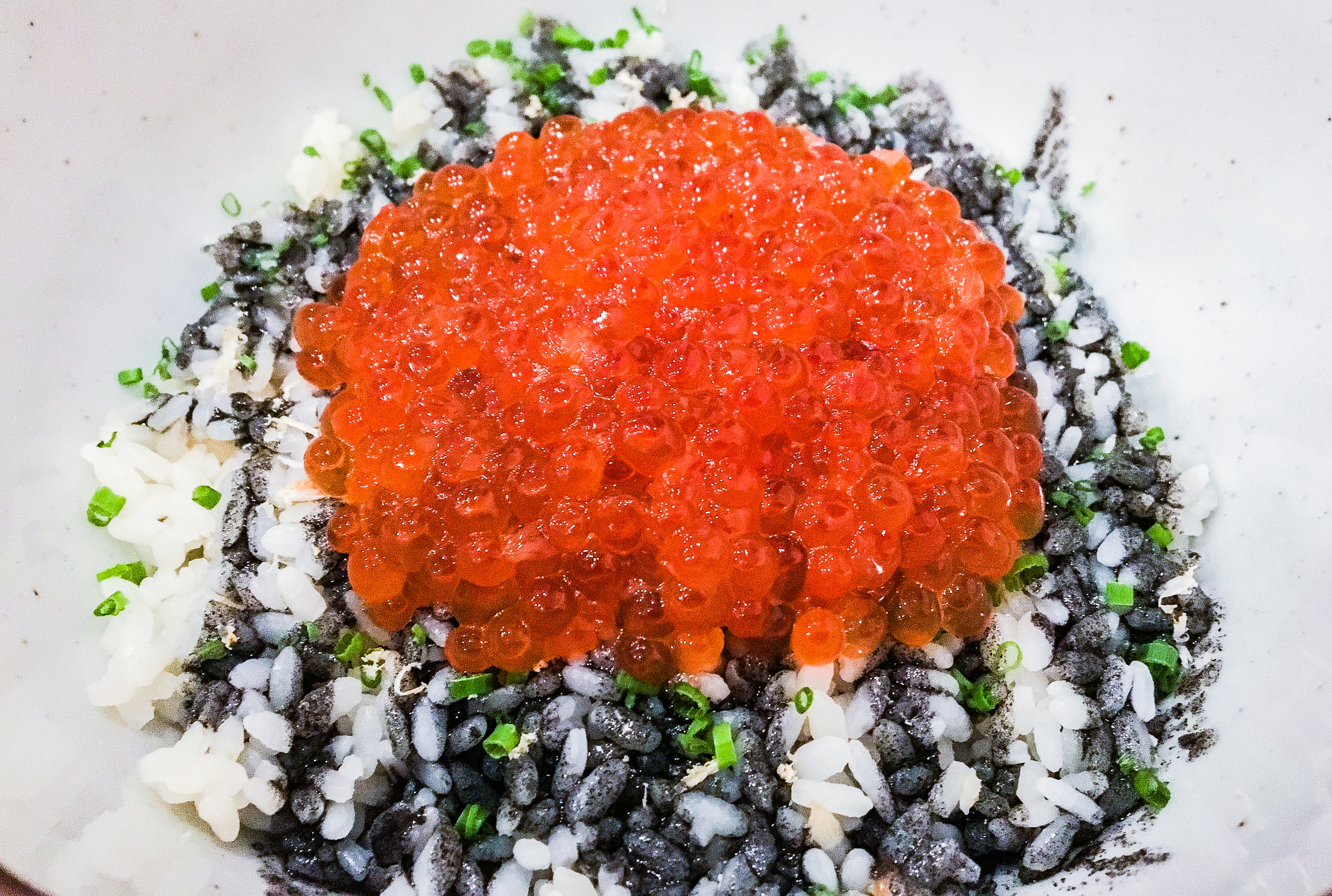 Ikura Don, fish eggs over rice.