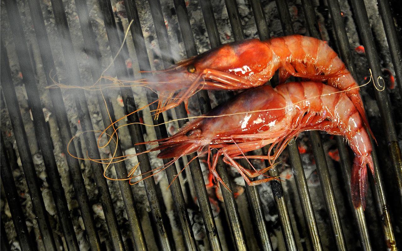 The prawns at Extebarri. Source: Extebarri