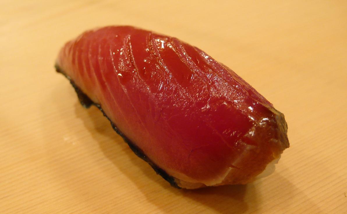 Toro (tuna) nigiri. Source: Cathy Ho