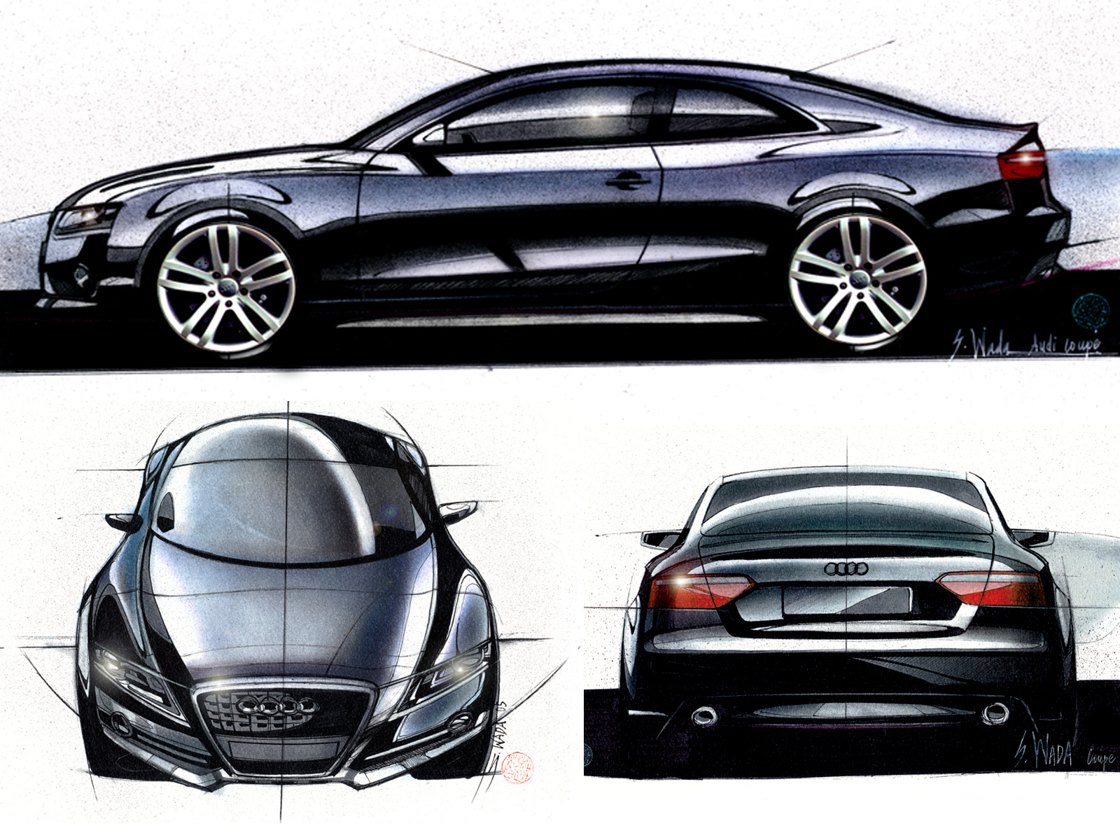 Satoshi Wada's Audi A6 rendering. Source: Car Design News.
