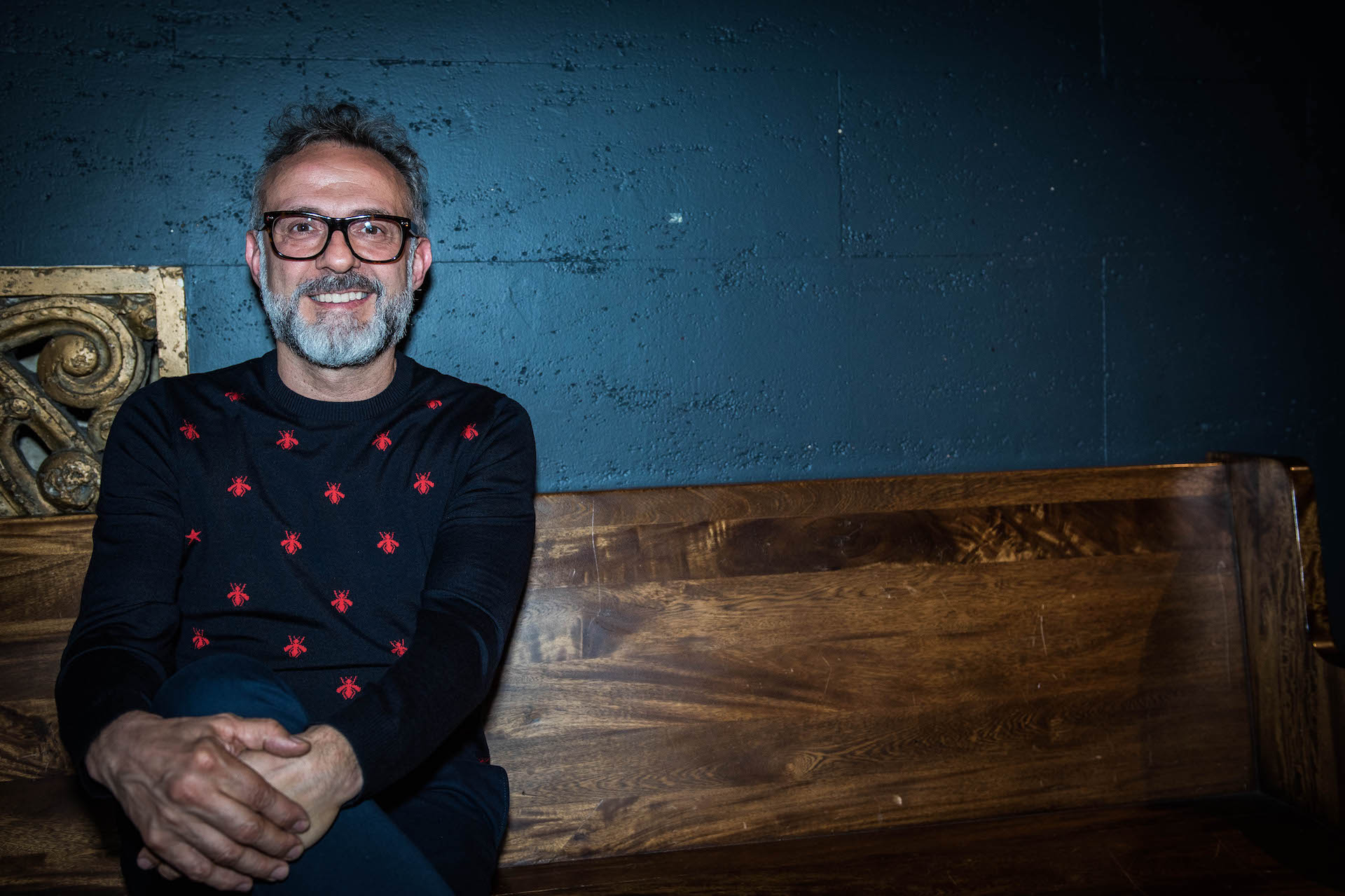 Chef Massimo Bottura at LA Food Bowl at the Theater at the Ace Hotel.