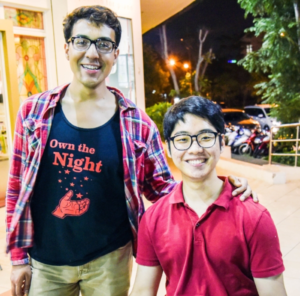 Samuel Mendez (left) directed Muui's travel guide videos. Kunho Kim (right) co-founded Muui and 20 States on Wheels.