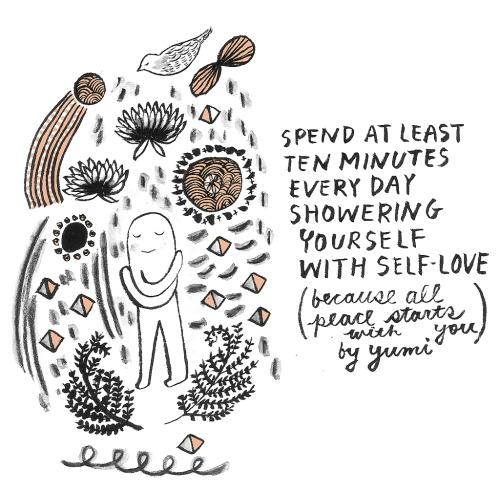 """Seven Simple Ways To Promote Peace."" Source:  Yumi Sakugawa ."