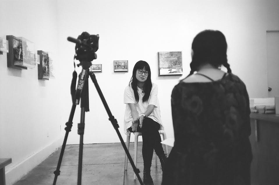 Giant Robot filming Yumi's interview.