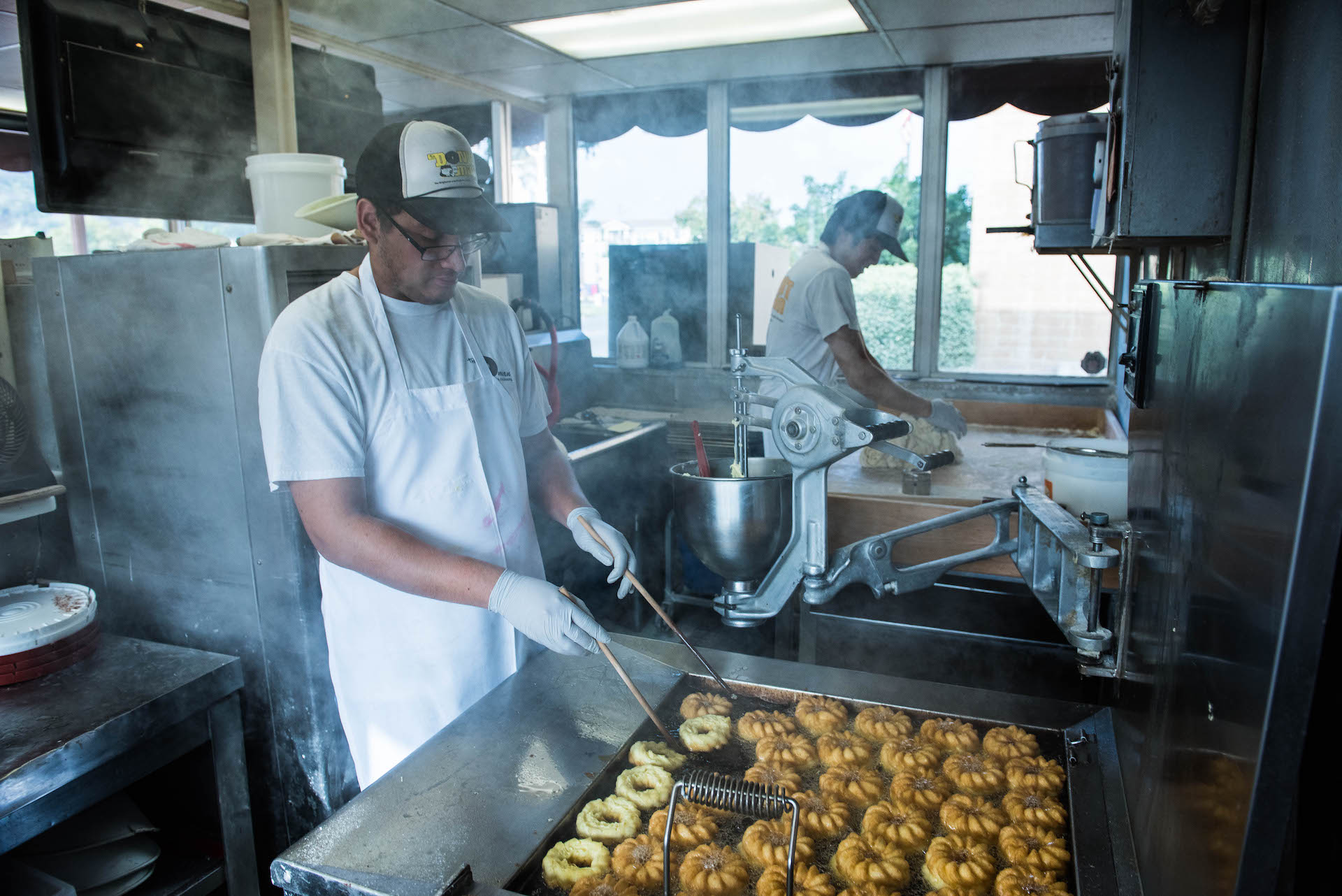 All the donuts are fresh and hand-made.