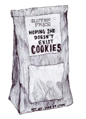 This drawing is inspired by Trader Joe's cookies. Courtsey of Tony Hoang.