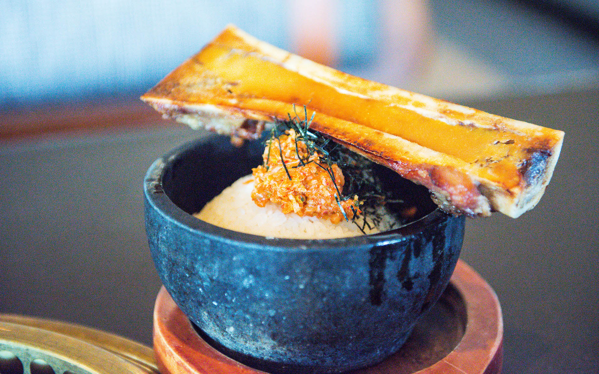 Bone marrow fried rice.