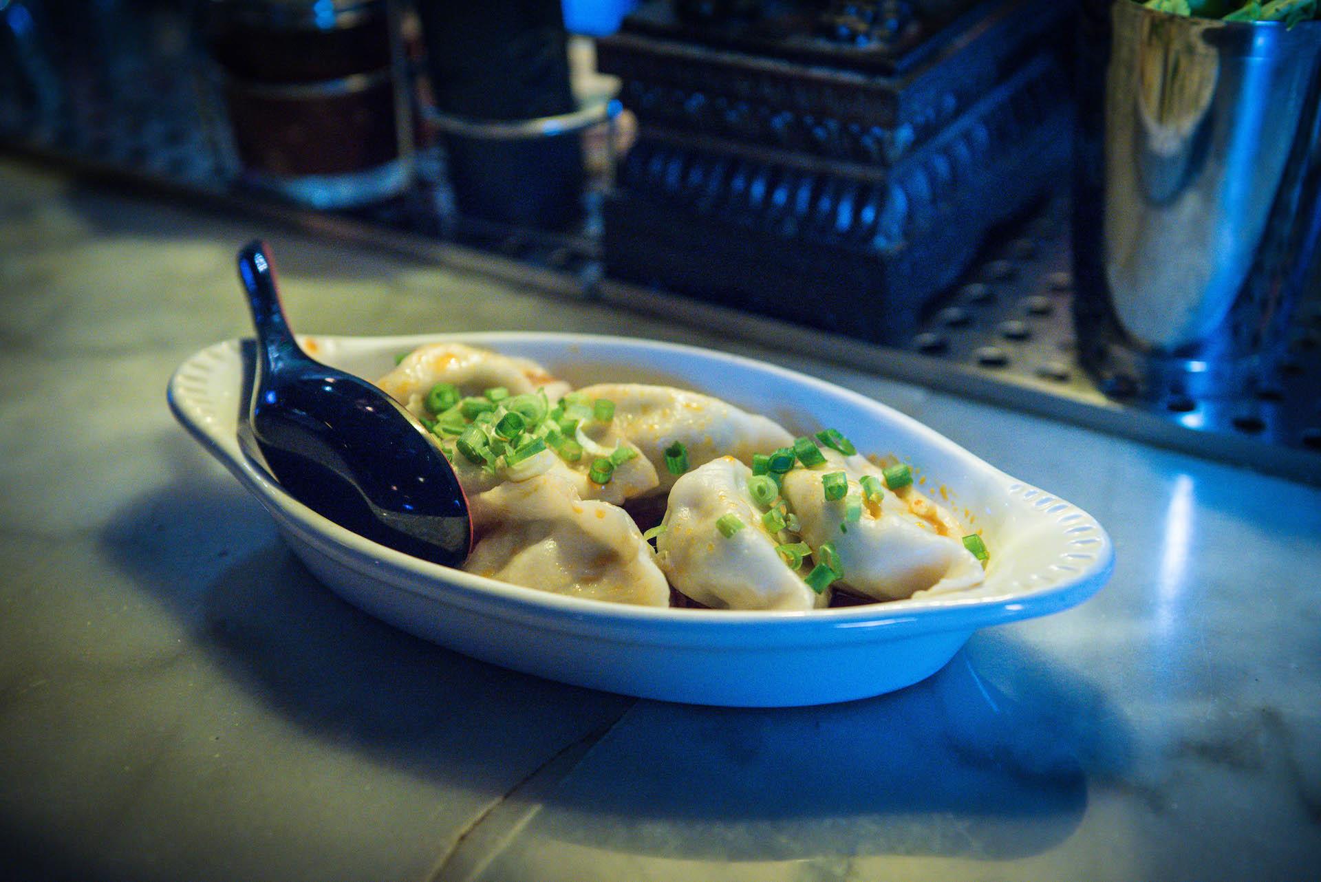 Hand-made fish dumplings.