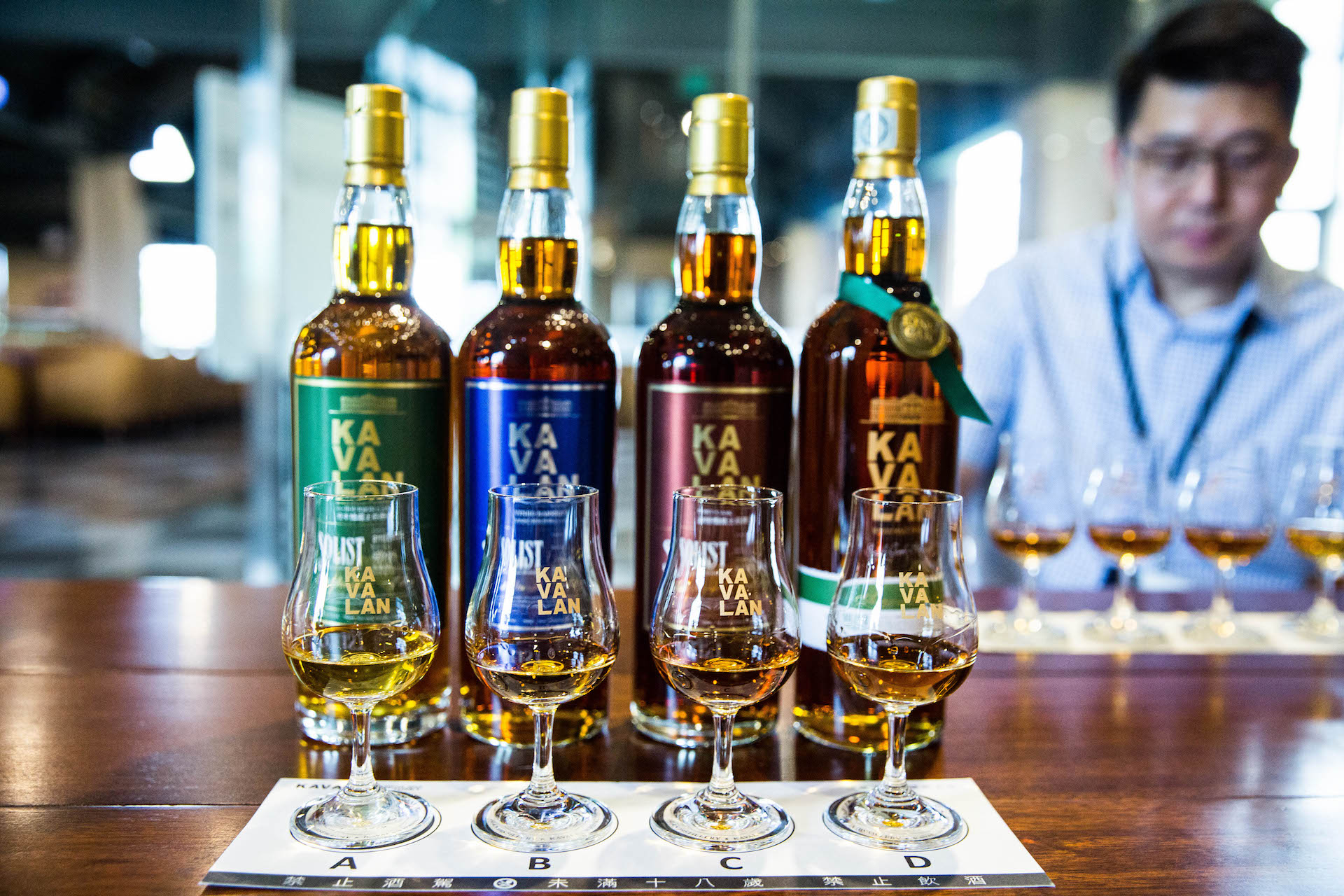 The four most famous flavors of Kavalan, including their Gold Prize Winner: The Amontillado.
