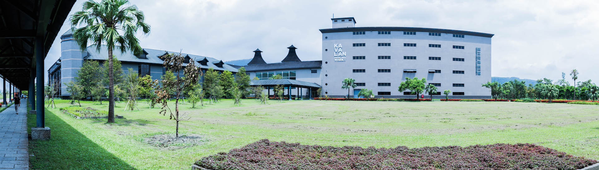 The castle on the hill: Kavalan's enormous factory in Yilan, Taiwan.