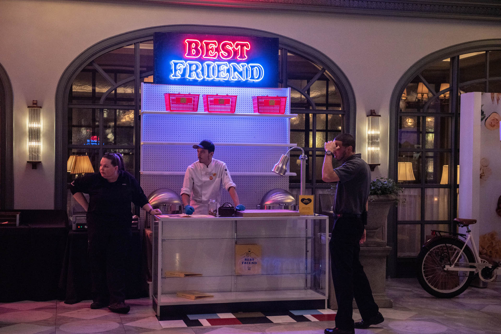 The Best Friend food stall in the lobby of the Park MGM.