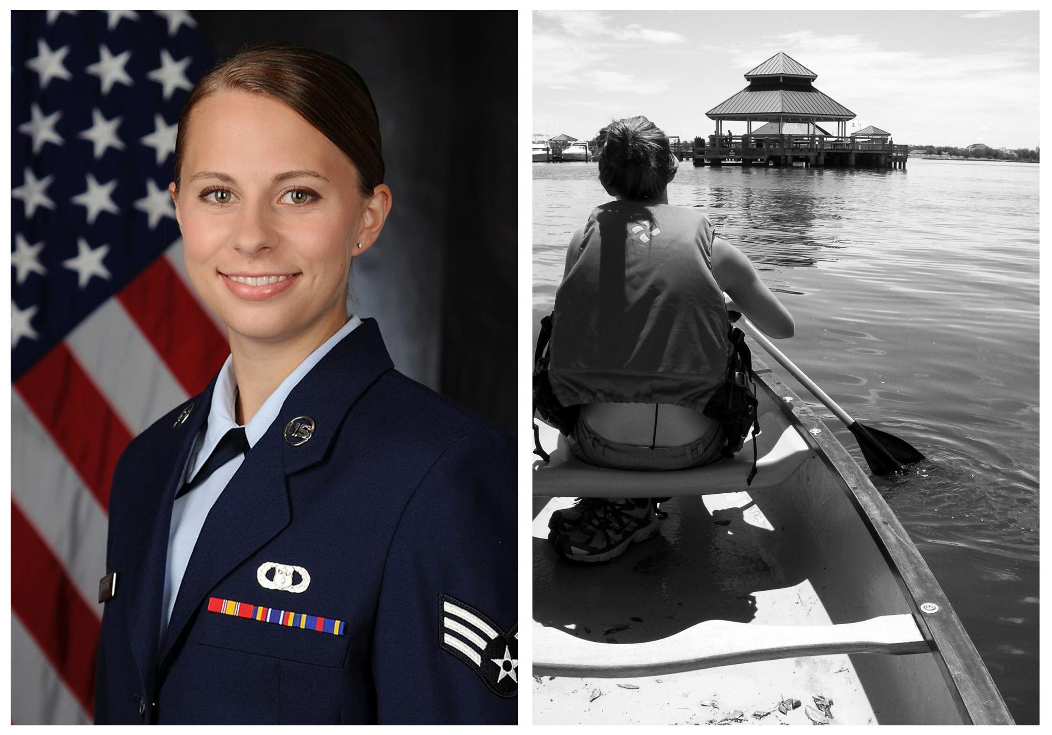 Left: Military portrait. Right: Keesler AFB, Mississippi