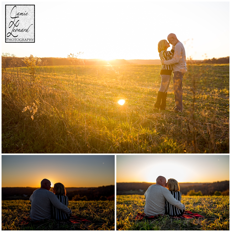 sunset, engagement, couple, jamie leonard photography, pennsylvania photographer, couple session