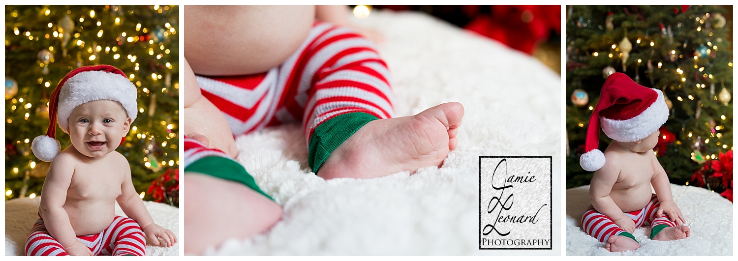 Christmas, baby session, portrait, jamie leonard photography, pennsylvania photographer