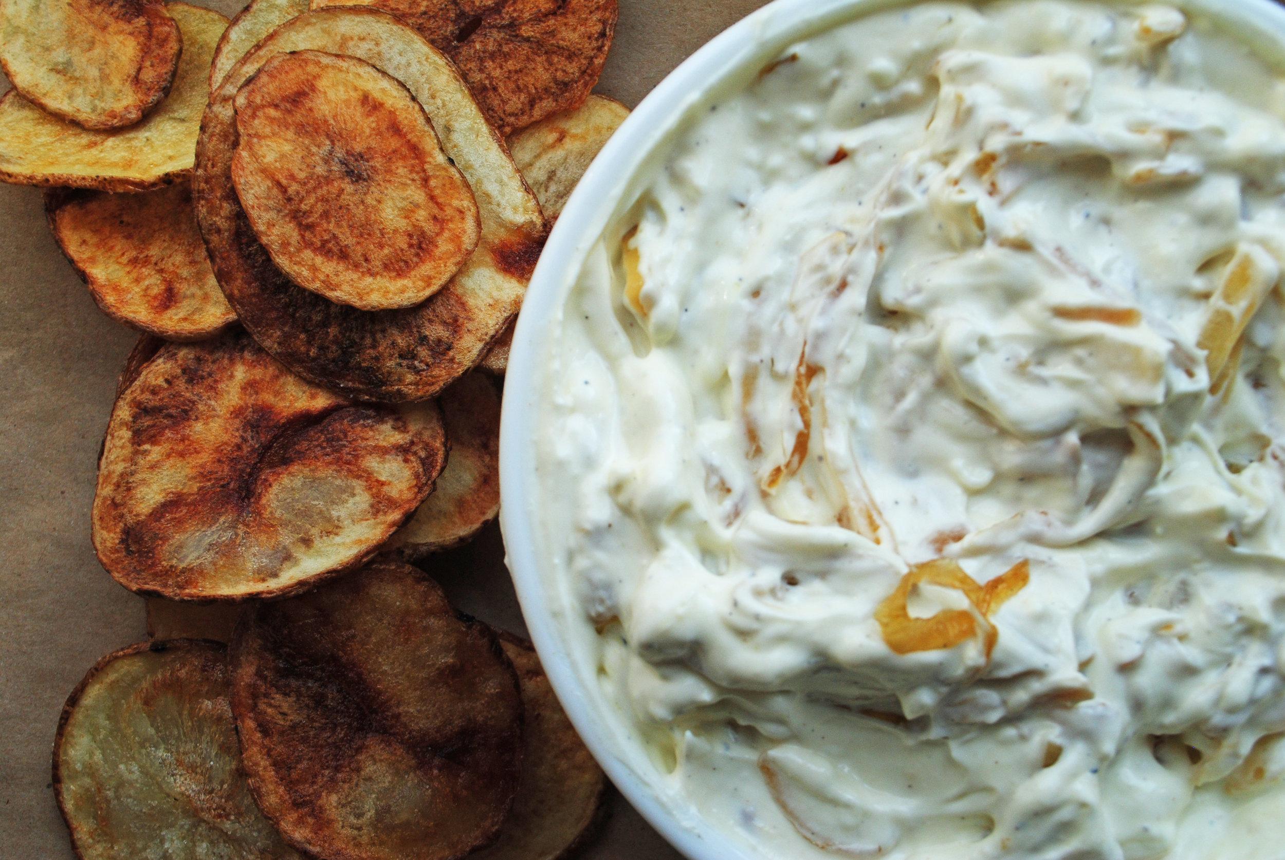 Potato Chips + Caramelized Onion Dip