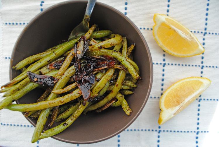 Green Beans with Lemon + Garlic