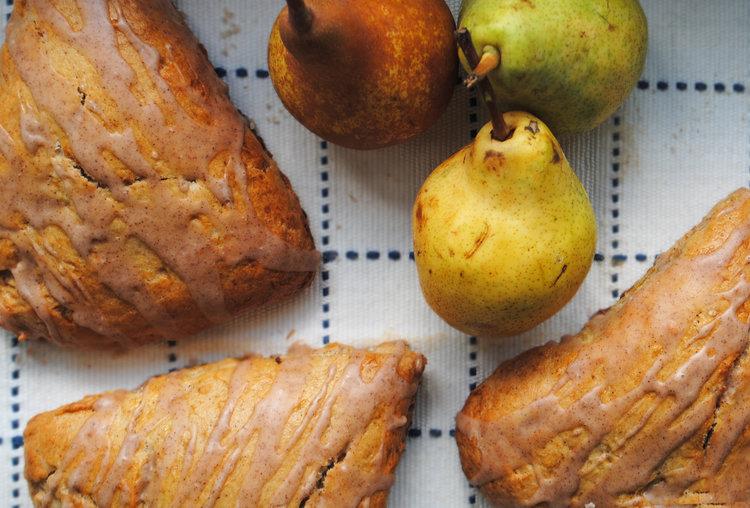 Roasted Pear Cinnamon Scones