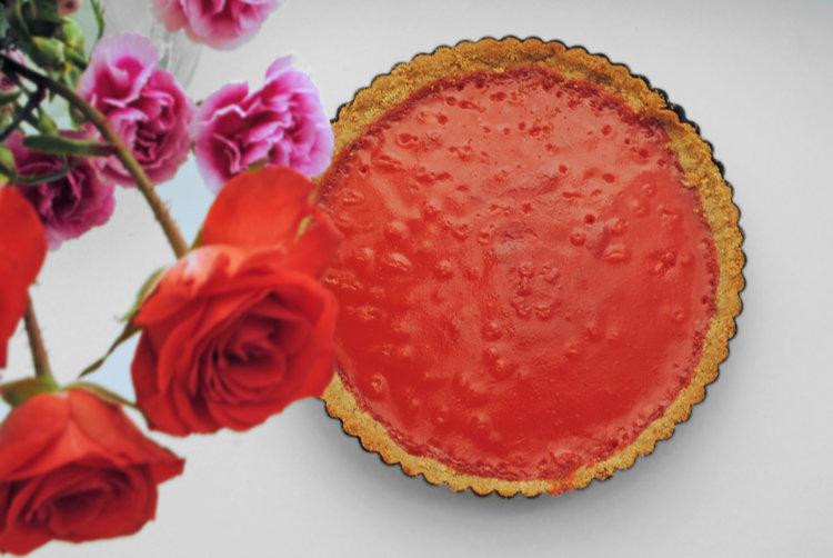 Cranberry Curd Tart with Roasted Hazelnut Crust