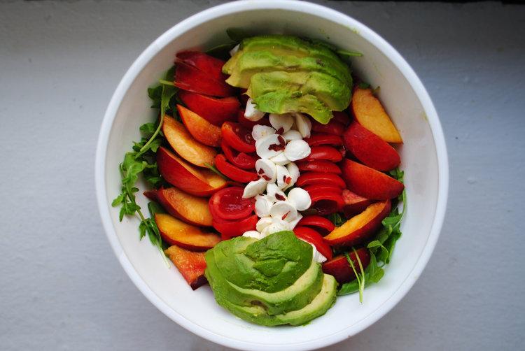Summer Salad + Basil Vinaigrette