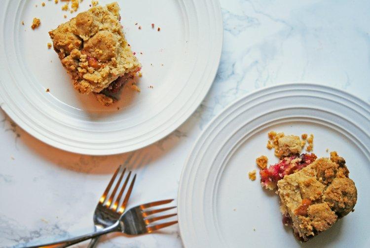 Cranberry Halva Big-Crumb Coffee Cake