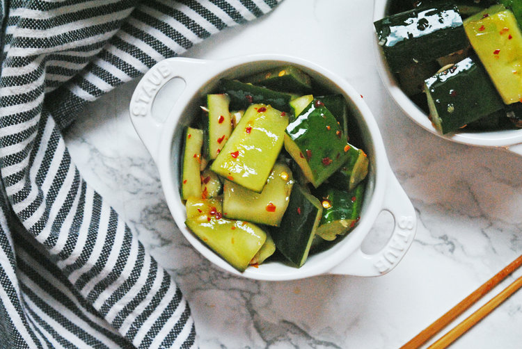 Spicy Szechuan Cucumbers
