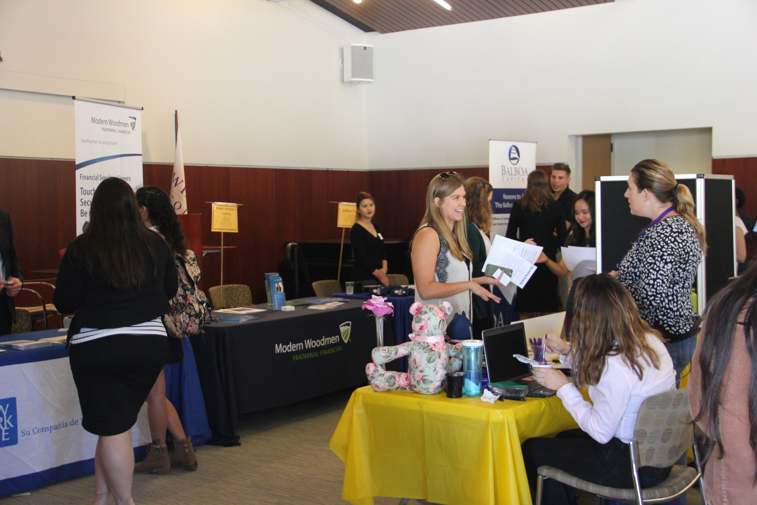 Students participating in the Career and Internship Fair          Photo by Indigo Halverson
