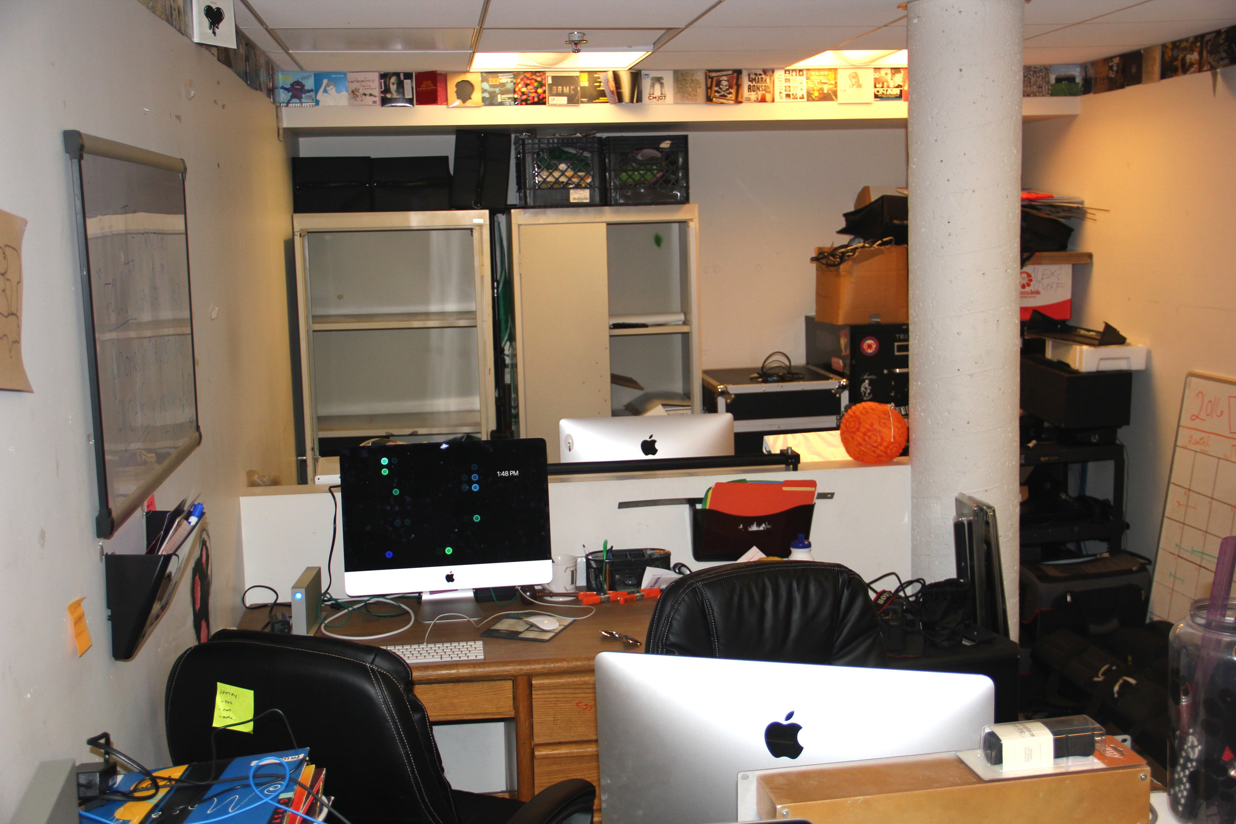VPS is currently making an office space out of the KPOET storage room
