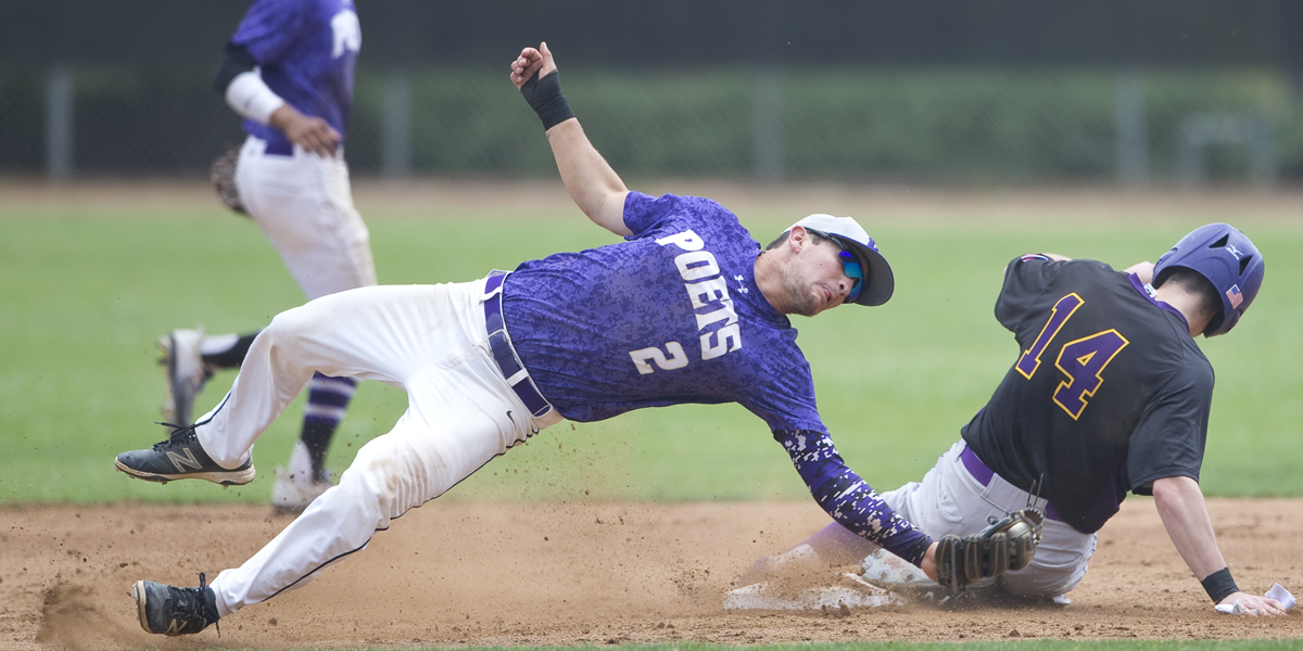Junior shortstop Andrew Lamar lays out to make an out during a non-conference game against Williams College earlier this season.