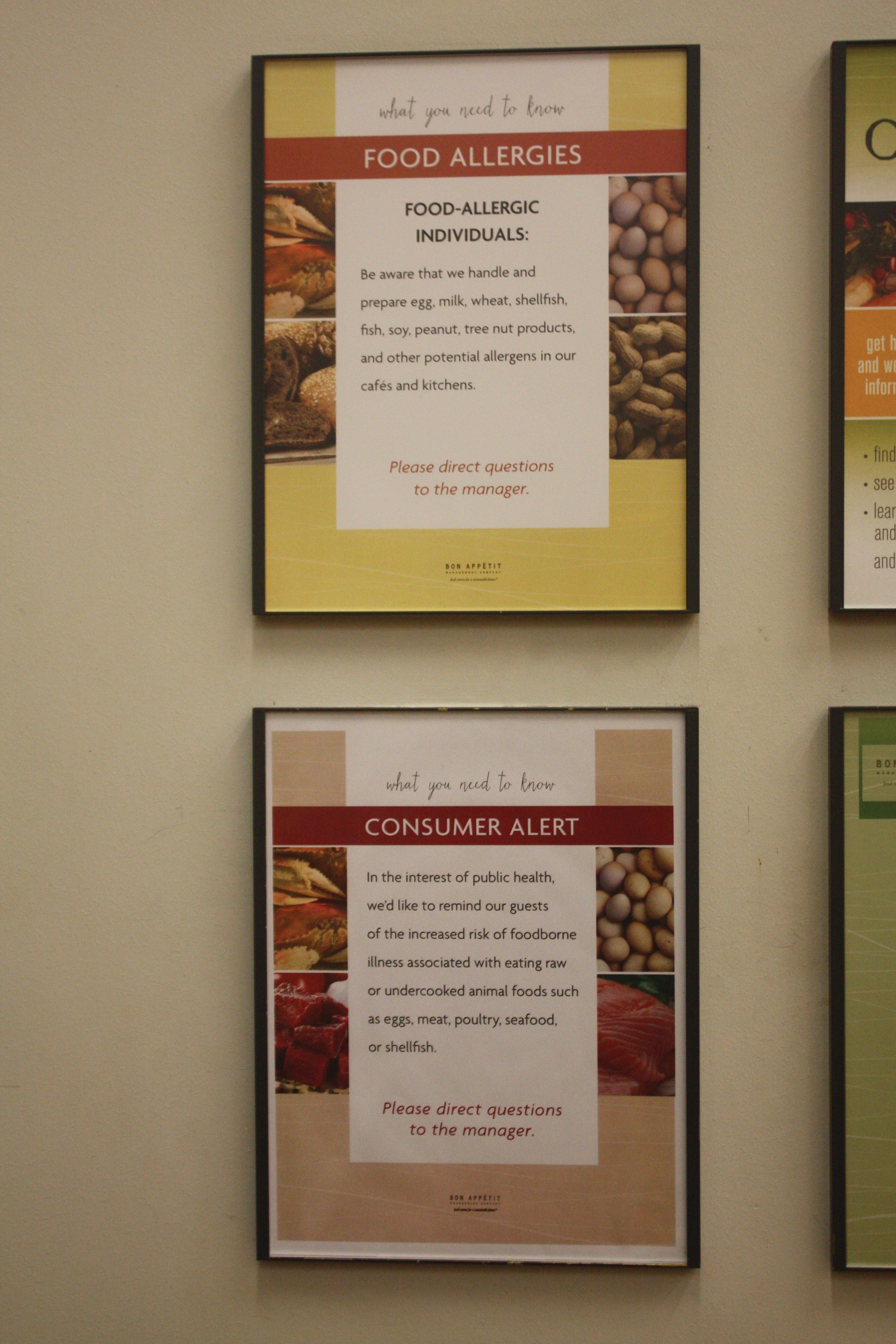 The CI labels potential allergens in foods as well as vegan, vegetarian, and gluten-free options.