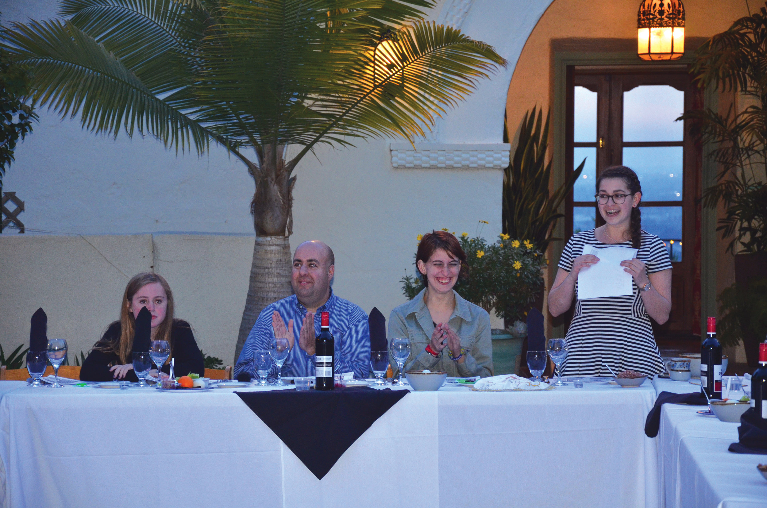 The JSU Board welcomed their guests last Friday to their second annual Passover Seder dinner.