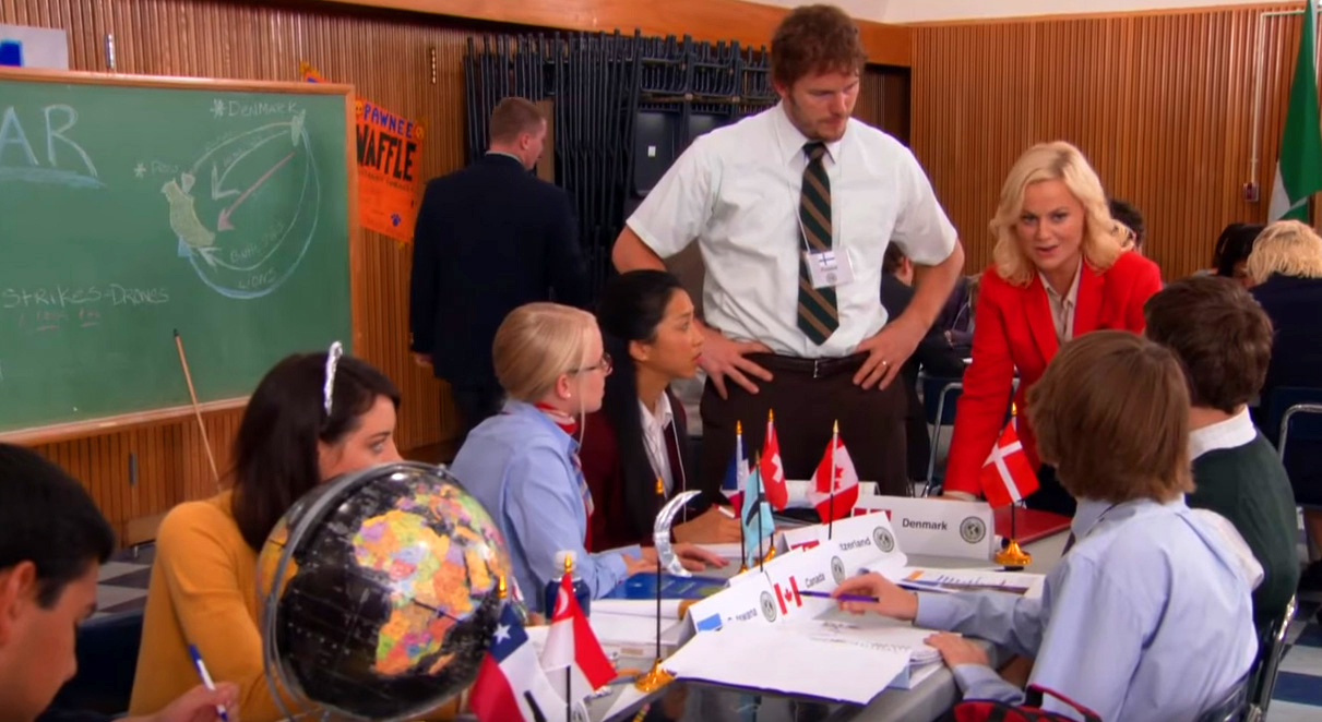 Parks and Rec episode inspired by Model UN.