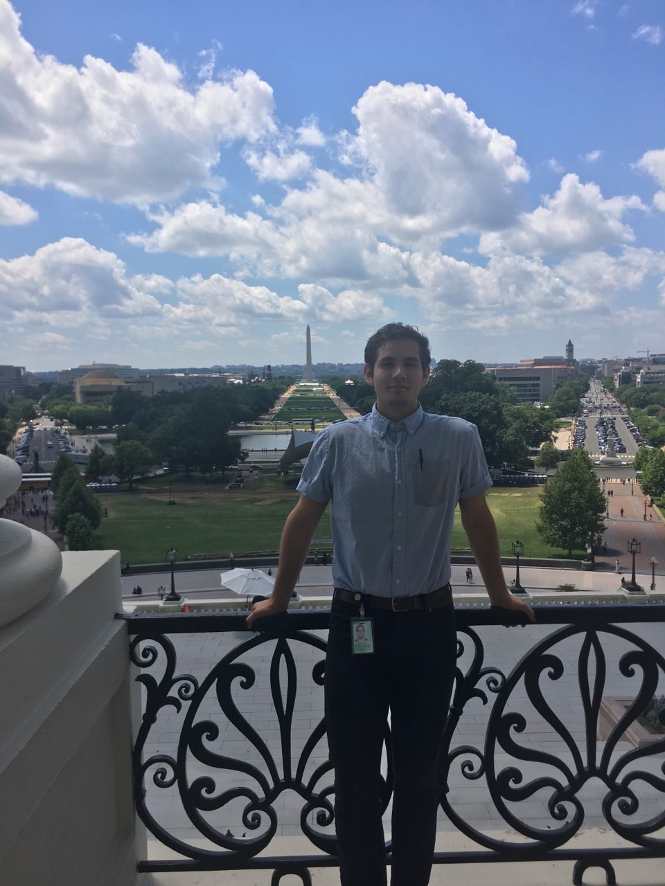 Fourth-year Yvan Monreal embarked on an internship in 2017 to Washington DC.