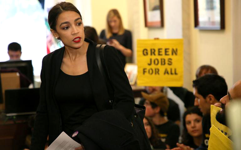 The Green New Deal making waves.  COURTESY OF   SIERRA CLUB