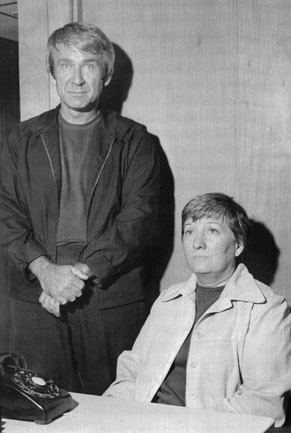PHOTO COURTESY OF  GETTY IMAGES    Marshall Applewhite (left) and Bonnie Lu Nettles (right) were the founding members of the Heaven's Gate cult.
