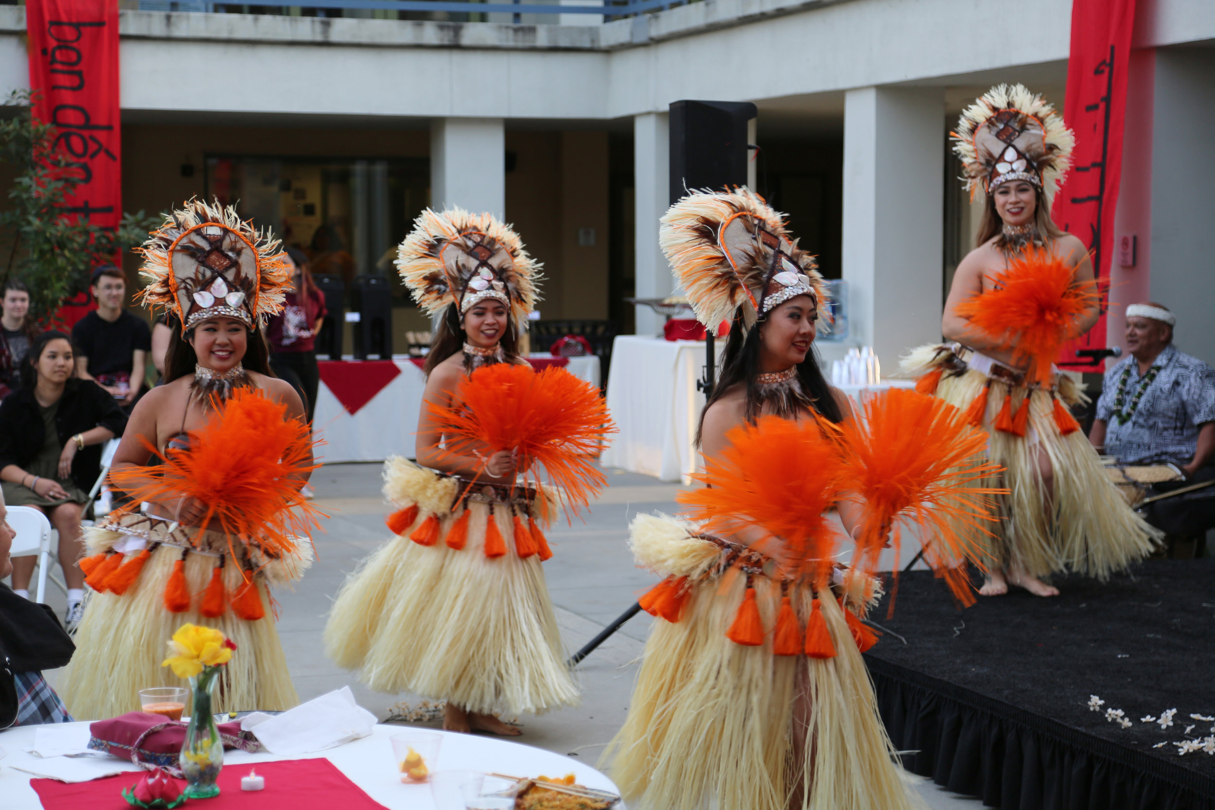 courtesy of the  Office of Communications    Tahitian dancers from the Island Inspirations Company at Asian Night.