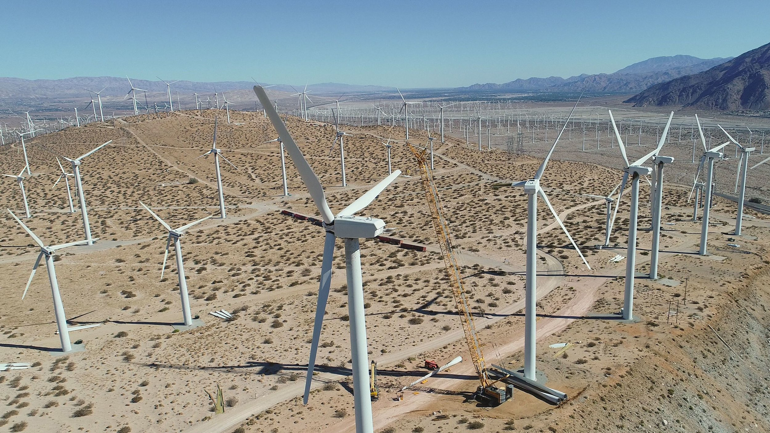 This vast expanse of windmills can be found in Palm Springs.   COURTESY OF  THE DESERT SUN